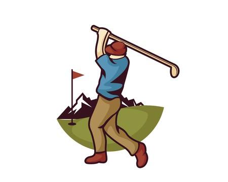 Modern Golf Logo.