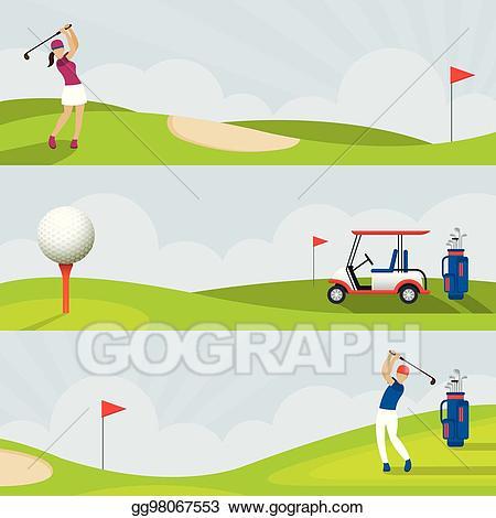 Vintage golf course clipart Transparent pictures on F.