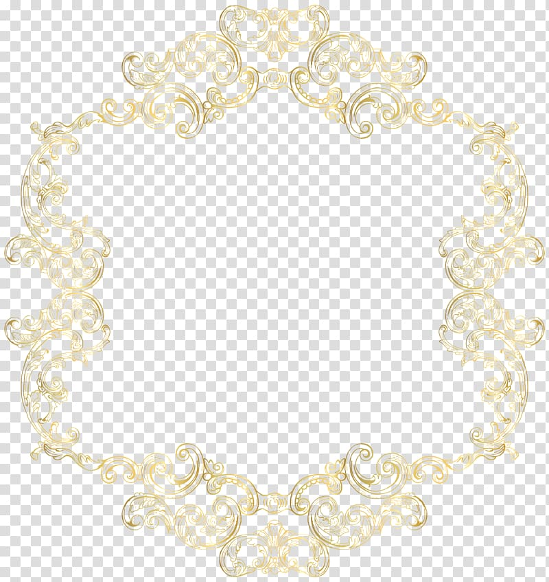 White Wedding Ceremony Supply Pattern, Gold Vintage Border.