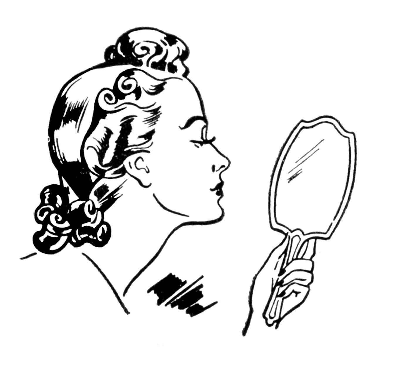 Vintage Salon Clip Art.