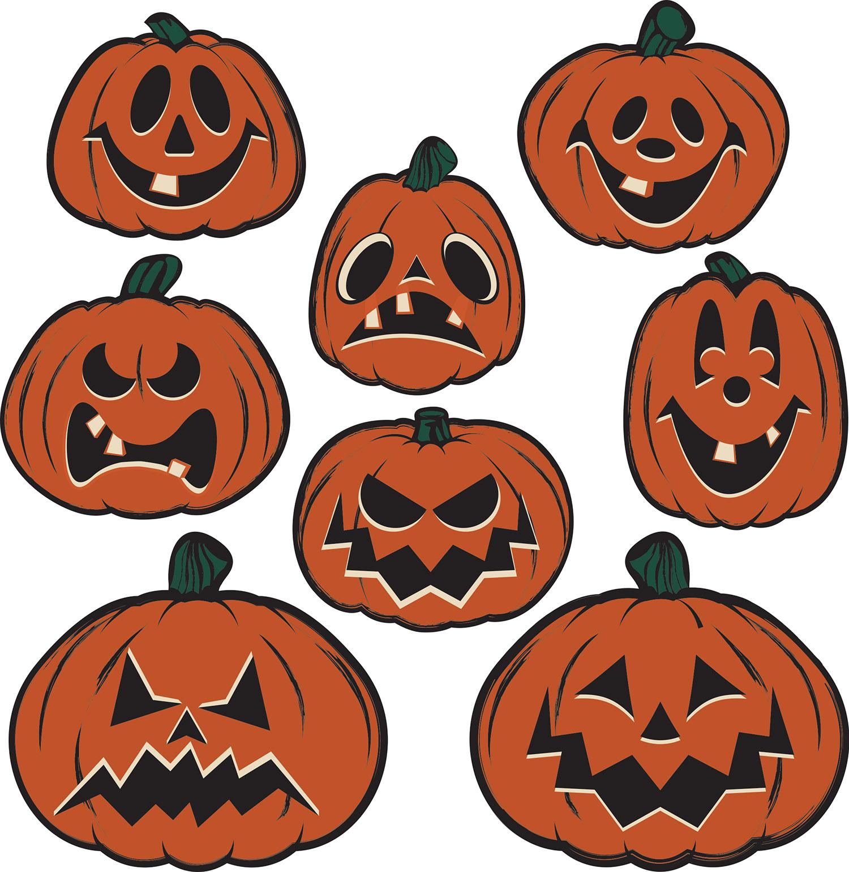 Details about Vintage Halloween Pumpkin Cutouts.