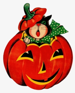 Free Vintage Halloween Clip Art with No Background.