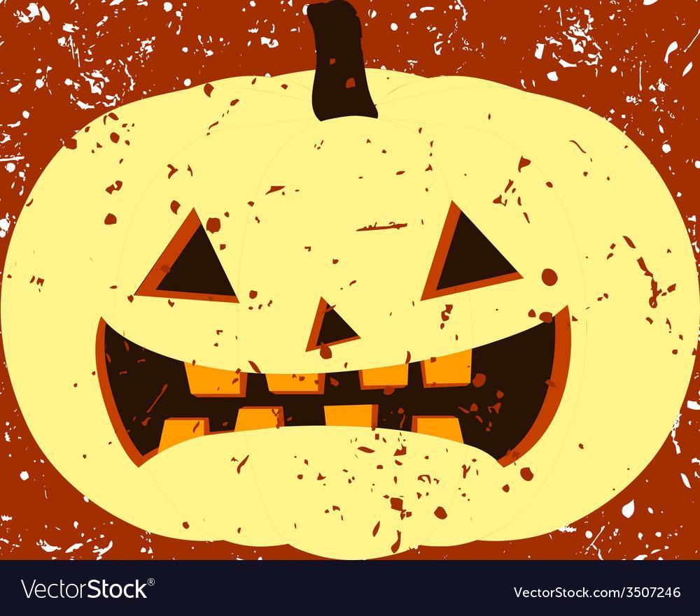 Vintage sign with halloween pumpkin.