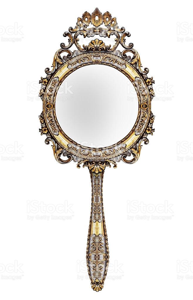 Vintage Hand Mirror stock photo 544594602.