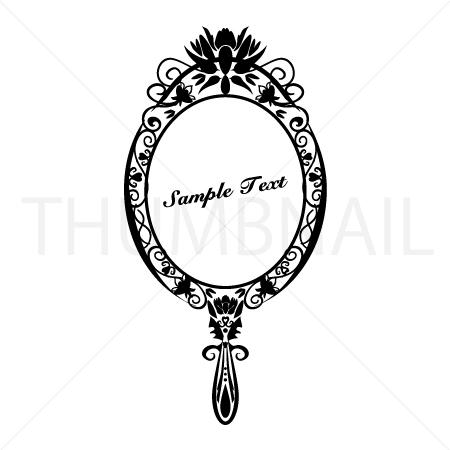 Vintage Ornate Art Nouveau Cherub Hand Mirror.