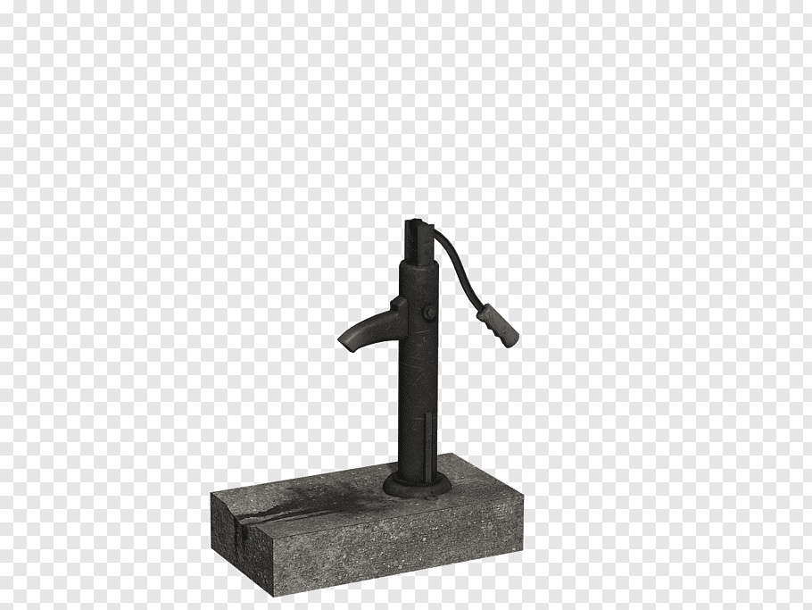 Gray deep well, Water Pump Handle Down free png.