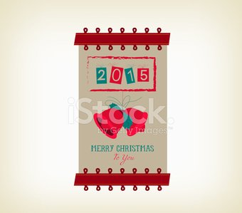 Vintage Merry Christmas and Happy New Year Banner premium.