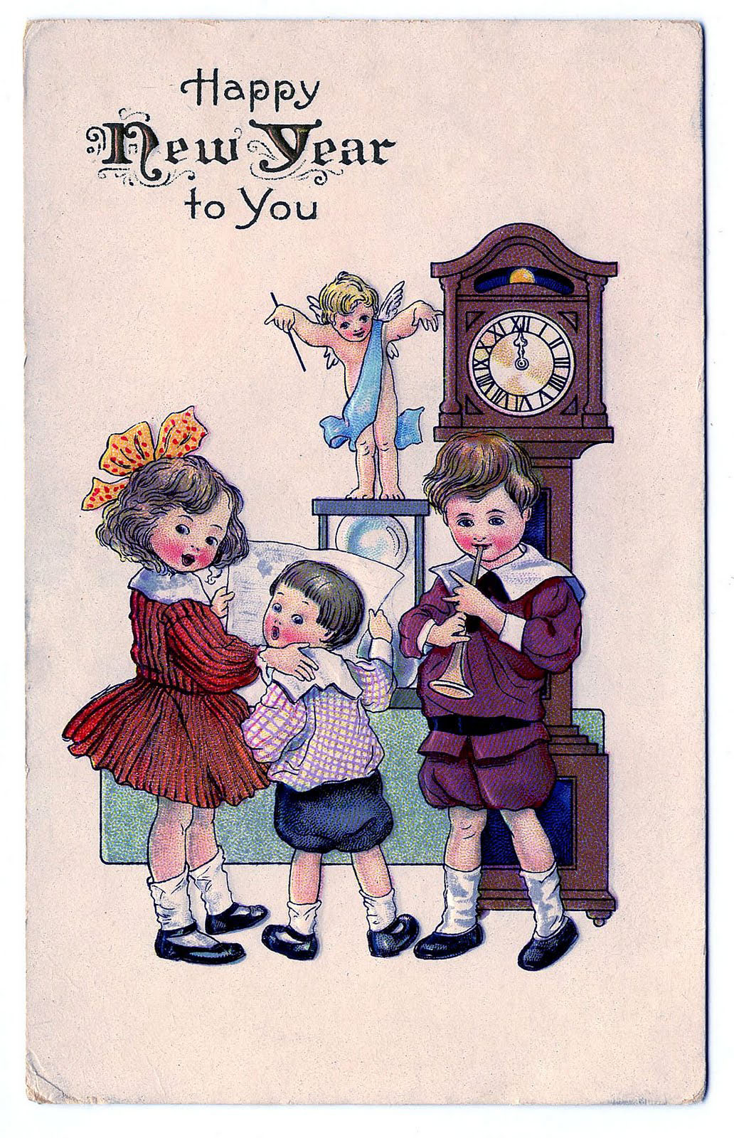 9 New Years Angels and Cherubs Clipart!.