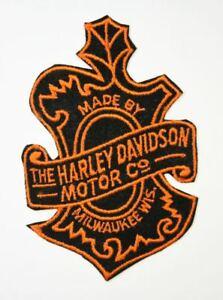 Details about Vintage HARLEY DAVIDSON Oak Leaf Patch. Orange & Black Velvet  Shield NOS. RARE.