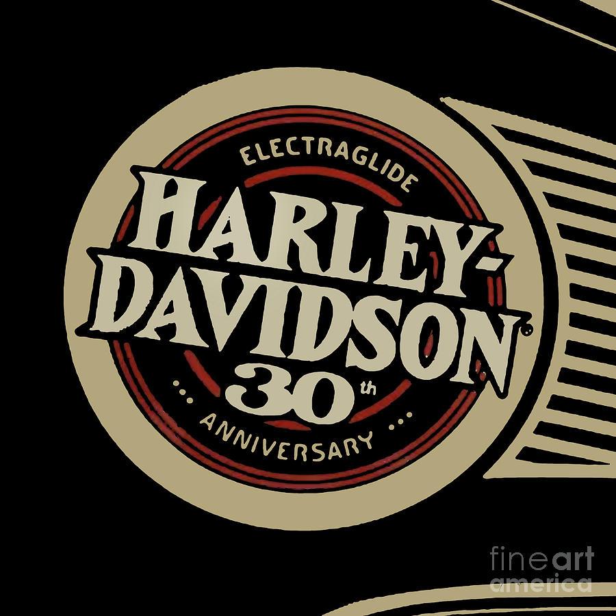 Harley Davidson Tank Vintage Logo Artwork.