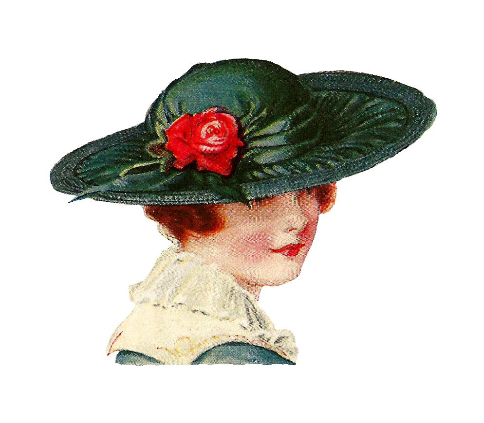 Vintage Ladies Hats Clipart.