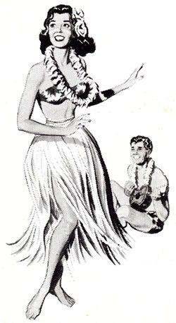 Vintage Hawaiian Clipart #1.