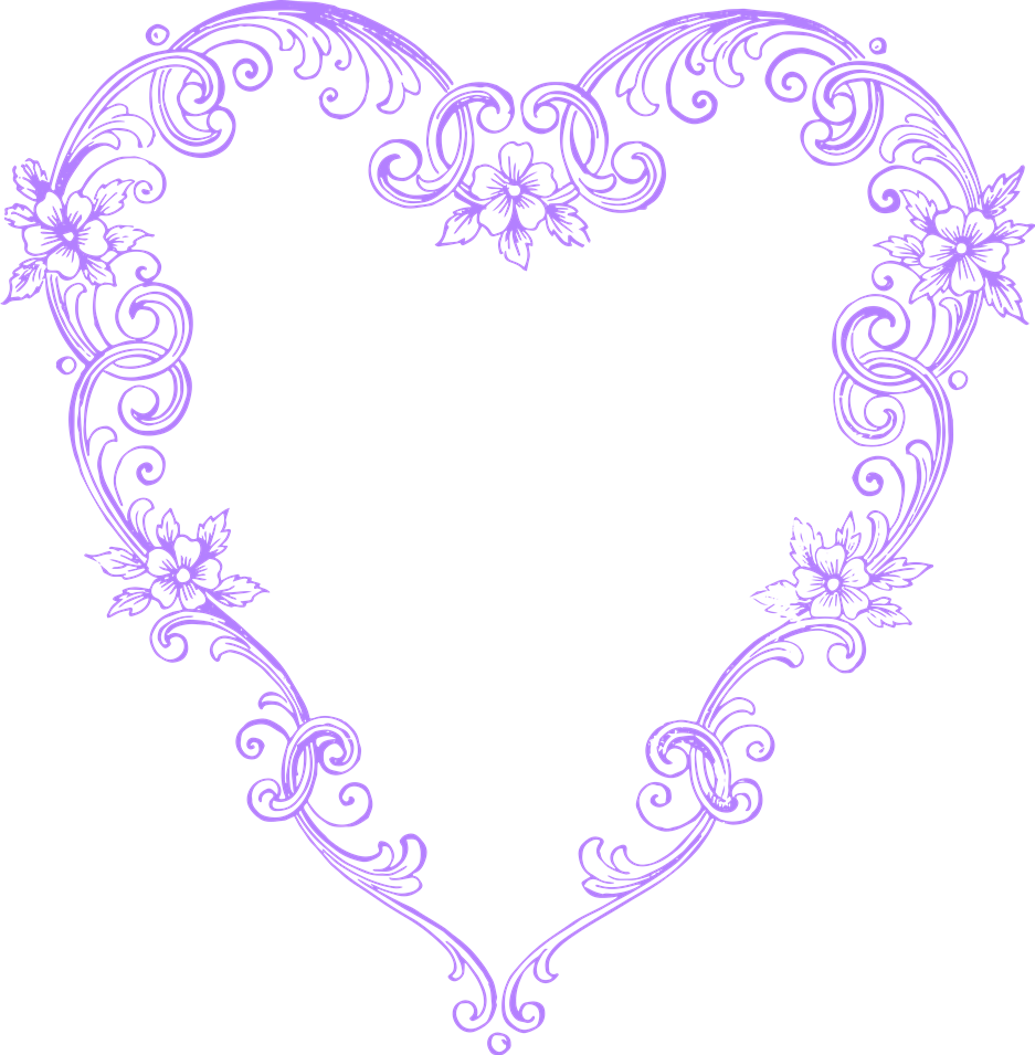 Free Vintage Heart Clipart.
