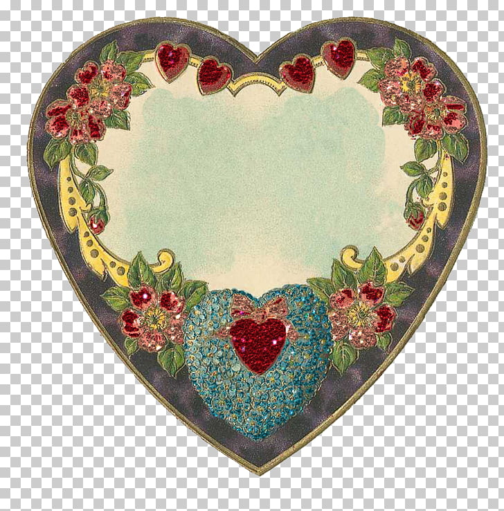 Vintage Hearts, Mariadee PNG clipart.