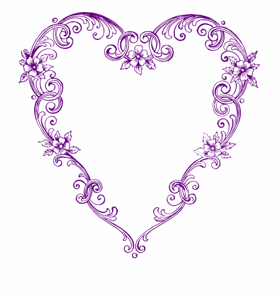 Free Fancy Heart Clipart Vintage Heart Clipart.