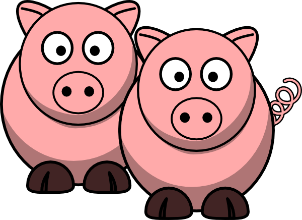 Two Pigs clip art.