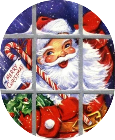 Santa free clip art from vintage holiday crafts blog archive.