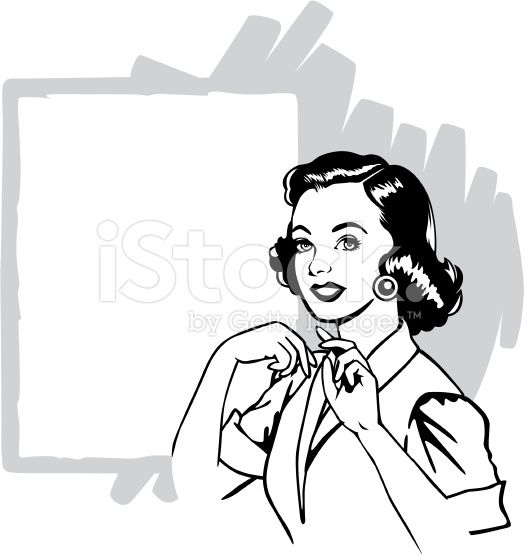 free clipart vintage housewife.