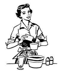 retro housewife.