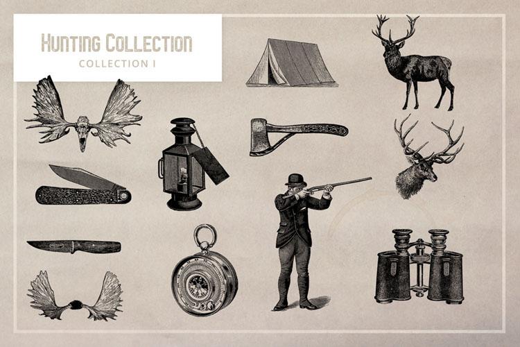 Free Vintage Hunting Graphics.