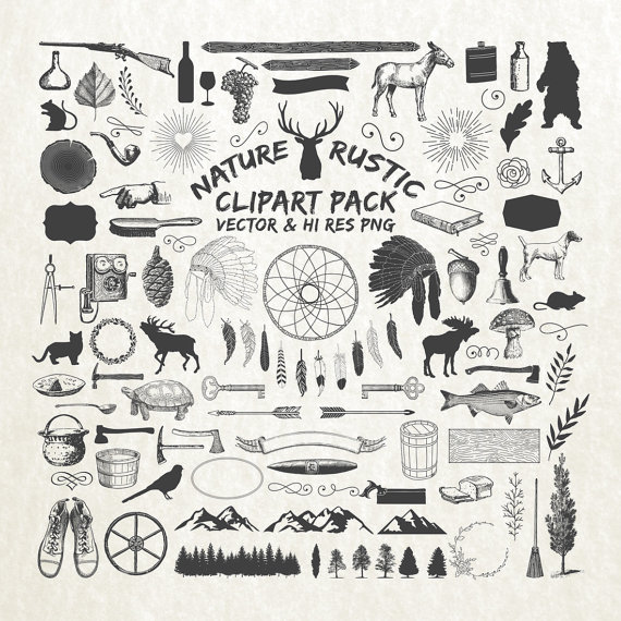 Rustic Clipart Pack.