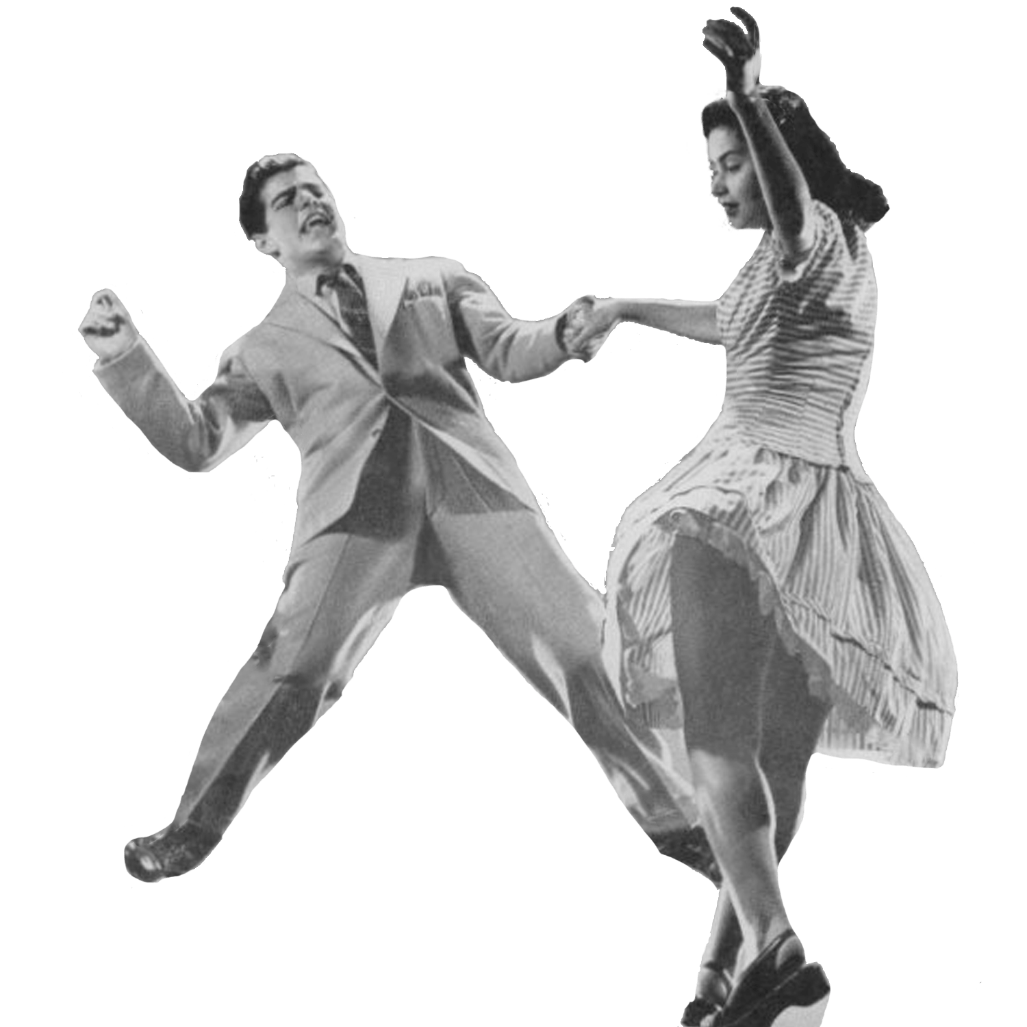 Vintage Dancers transparent PNG.