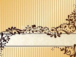 Vintage Sepia Banner, Horizontal stock vectors.