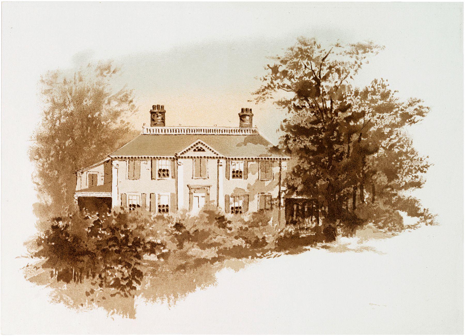 Vintage Sepia Landscape Image.