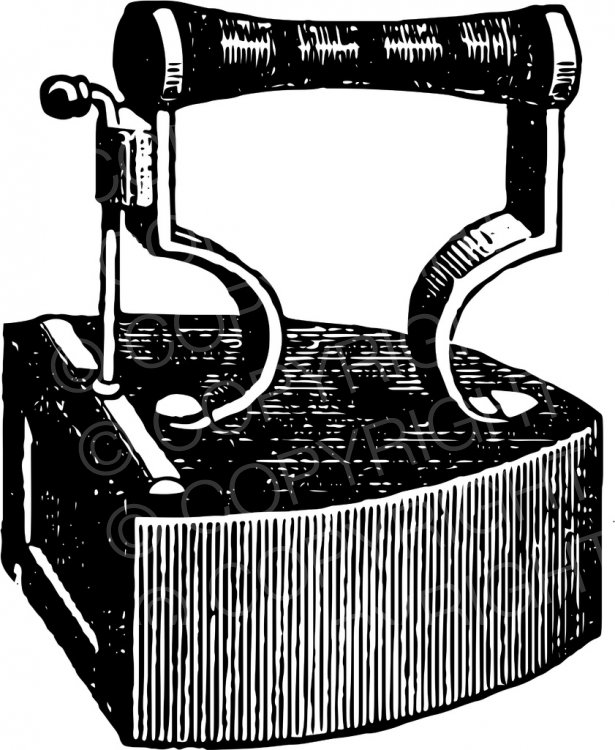 Vintage Box Iron Clipart.