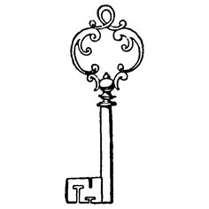 Antique Key Clipart.