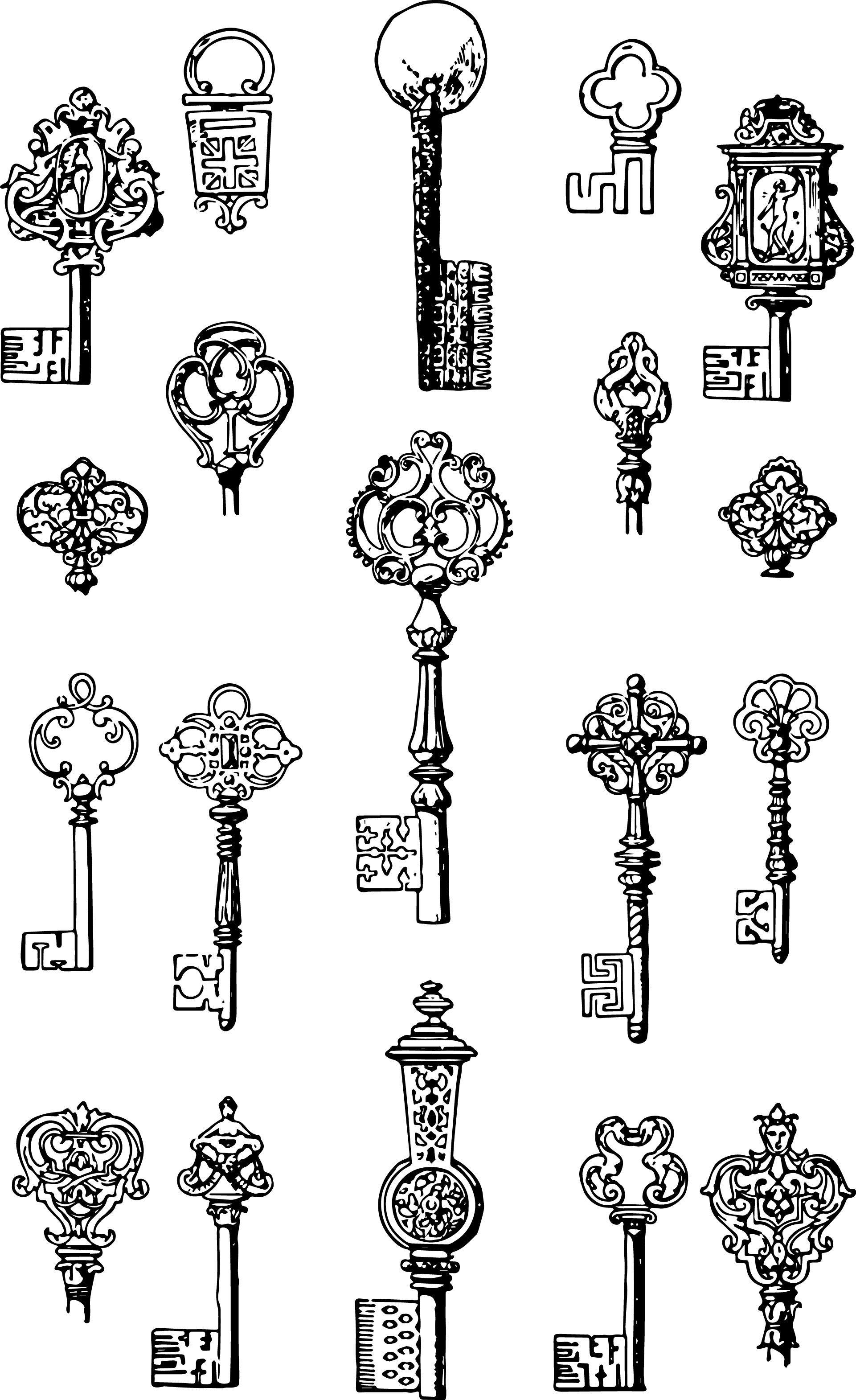 steampunk clipart ornate key #834 in 2019.