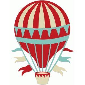 Silhouette Design Store: vintage hot air balloon.