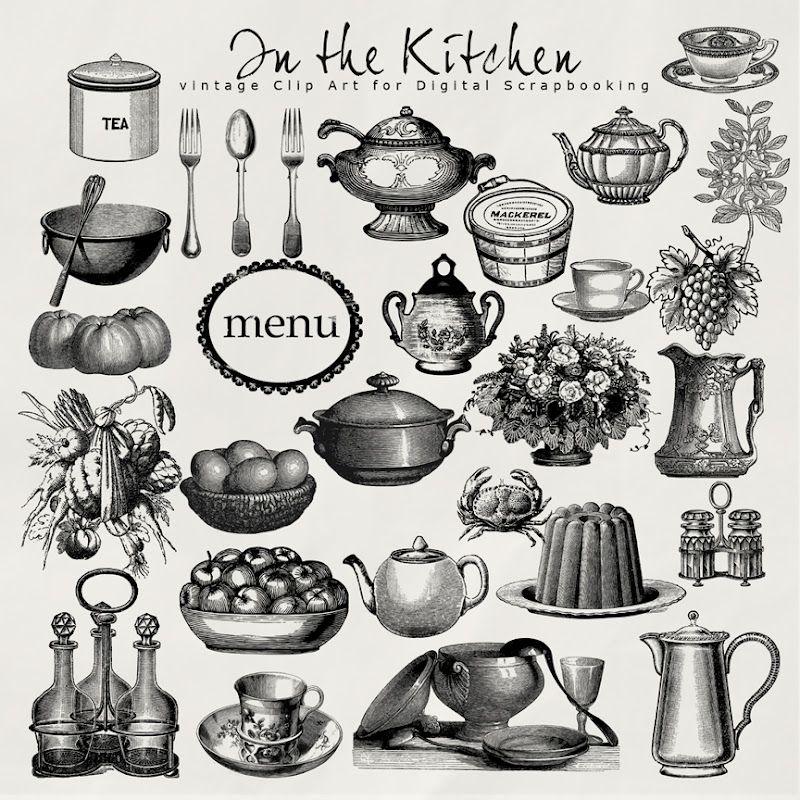 Vintage Cooking Clip Art.