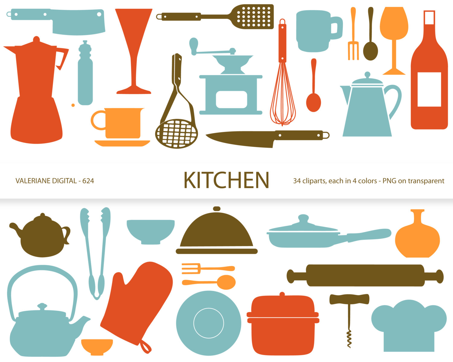 9+ Free Kitchen Clipart.