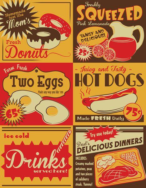 Retro Kitchen Advertising (no. 2) Art Print.