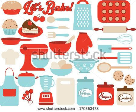 Retro Kitchen Utensils.