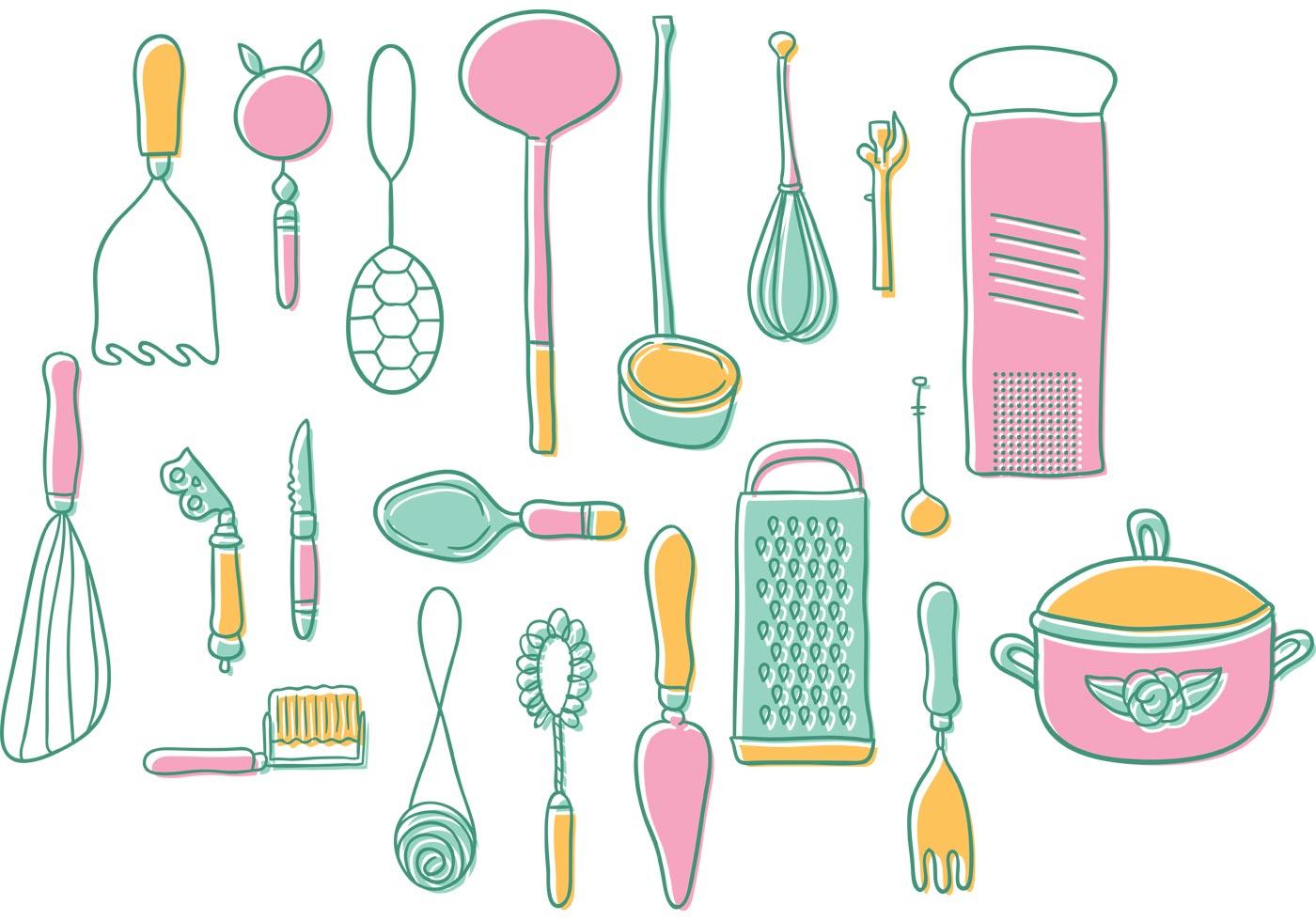 Vintage kitchen utensils clipart 6 » Clipart Station.