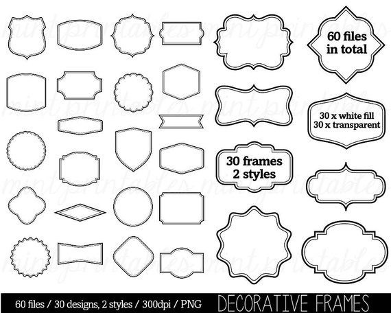 Border Clip Art Clipart, Digital Frame Label Clipart, Tags.