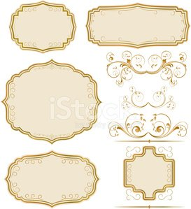 Vintage Label Set premium clipart.