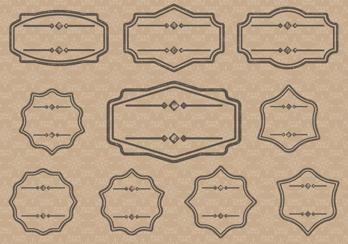 Vintage Label Cartouches.