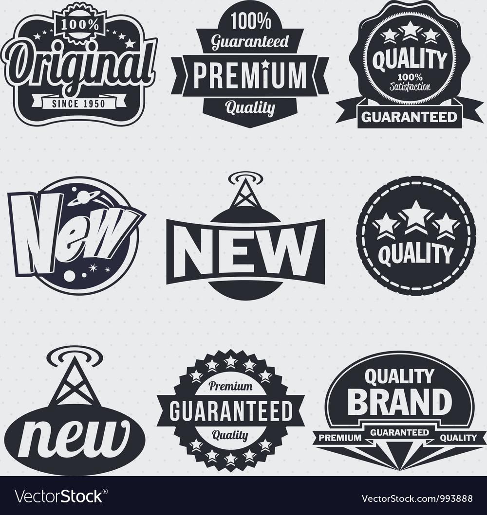 Retro vintage labels.