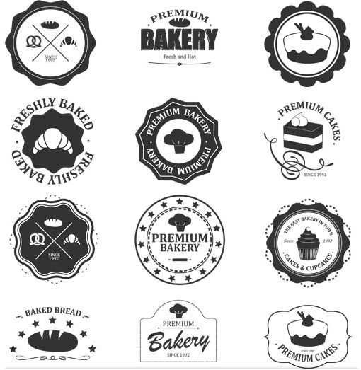 Sale Food Vintage Labels Illustration vector free download.