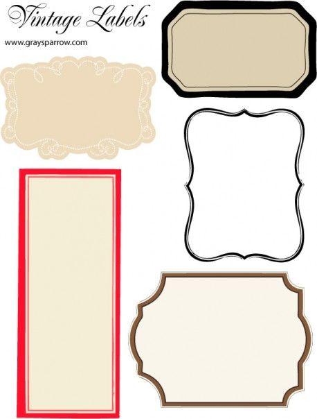 FREE: A sheet of blank printable vintage labels.