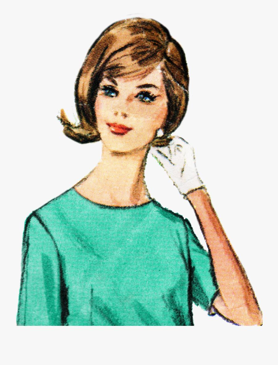 Png Clipart Vintage Lady , Free Transparent Clipart.