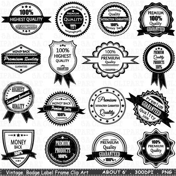 Vintage Badge Label Frame ClipArt BADGE LABELclip by SAClipArt.