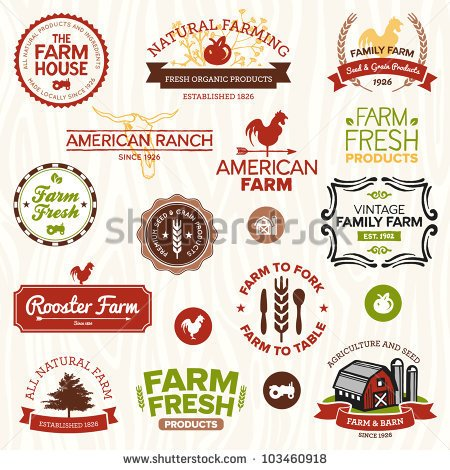 Vintage Farmer Logo Clipart.