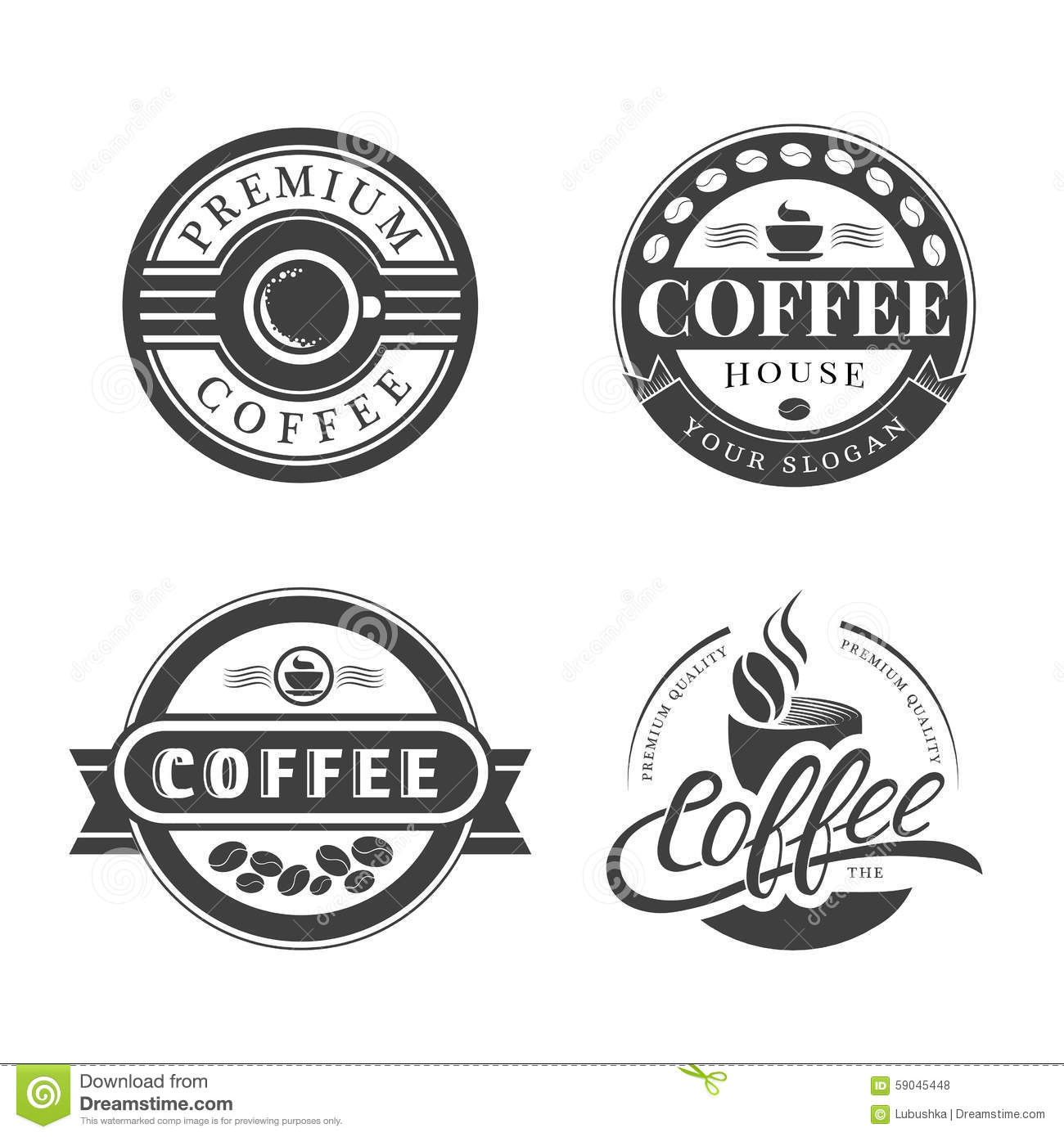 Coffee Vintage Logo Stock Vector.