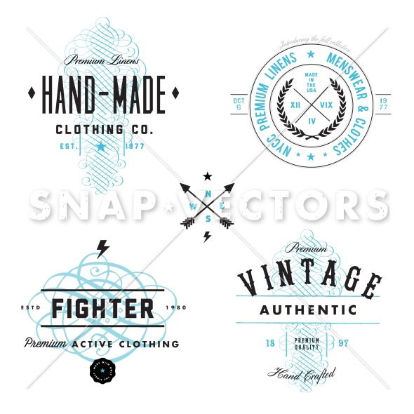 Vector Vintage Logo And Badge Set Snap Vectors Clipart Vectors.