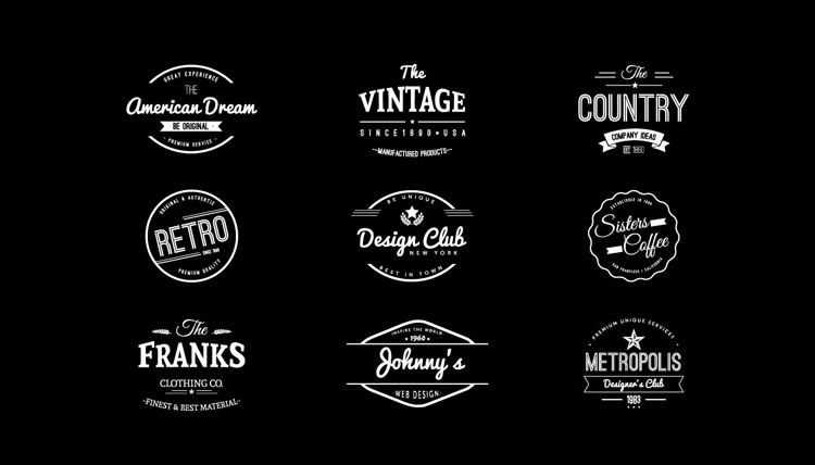 10 Free Vintage Logo & Badge Template Collections.