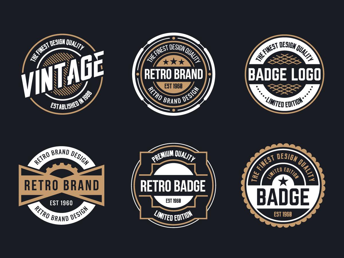 vintage logo vector.